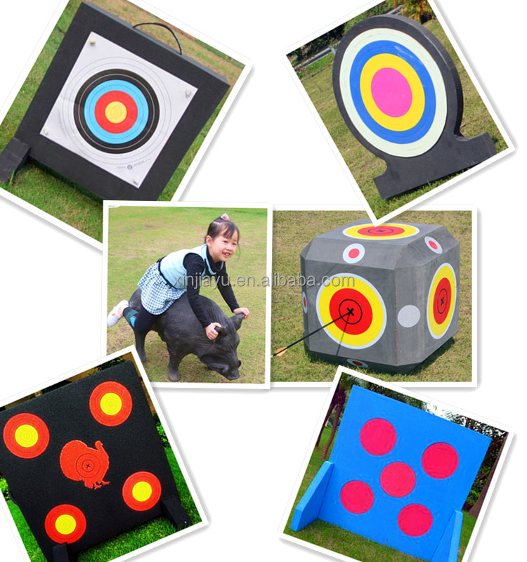 Foam XPE 3D archery target with two EVA foam stands 80*80CM OEM