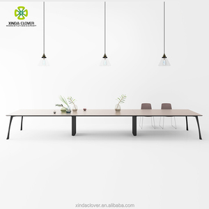Modular variegated conference table system