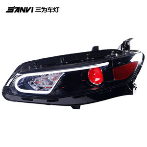SANVI New Car Headlight Assembly For Chevrolet Malibu 2016-2018 with Hella lens HID Bulb Source Auto Aftermarket Light Upgrading
