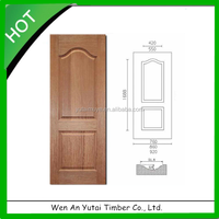 Molded Natural Wood Veneer Faced HDF Door Skin 3mm