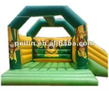2012 attractive inflatable baby moonwalk with slide