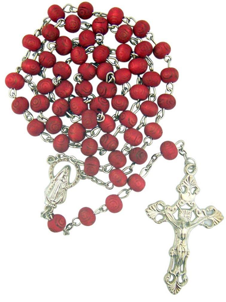 Rose Scented Carved Rose Petal Rosary