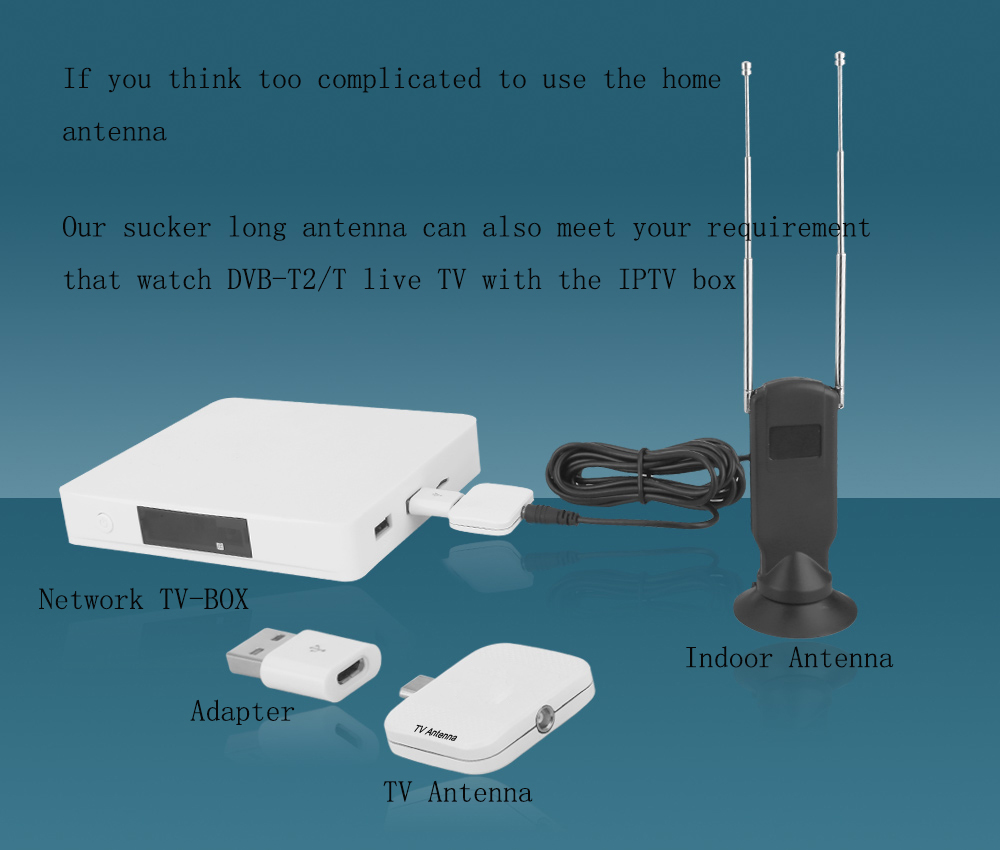 Ricevitore TV digitale ATSC D202 DVB-T2 Pad USB TV Tuner supporto HD 1080 p TV digitale applicare DEGLI STATI UNITI Canada Messico e Corea Del Sud