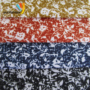 2018 New promotion 100 shirting cotton knitted floral fabric free sample