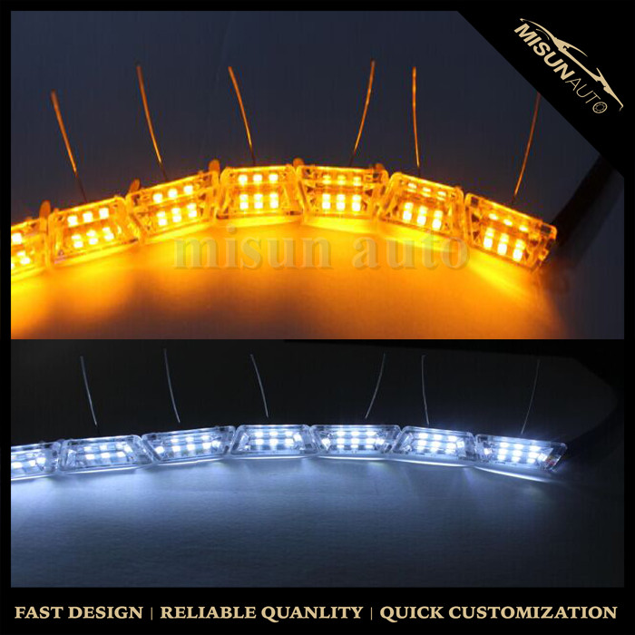 16pcs Pvc Shell Sequential Led Crystal Dual Color Switchback Drl ...