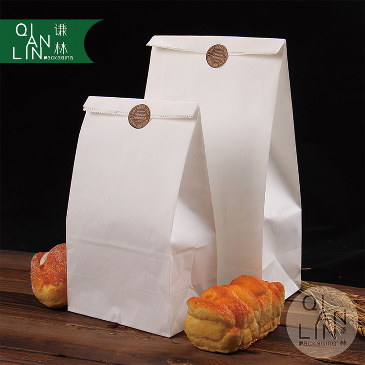 Food grade snacks dried fruits stand up square bottom white kraft paper bag