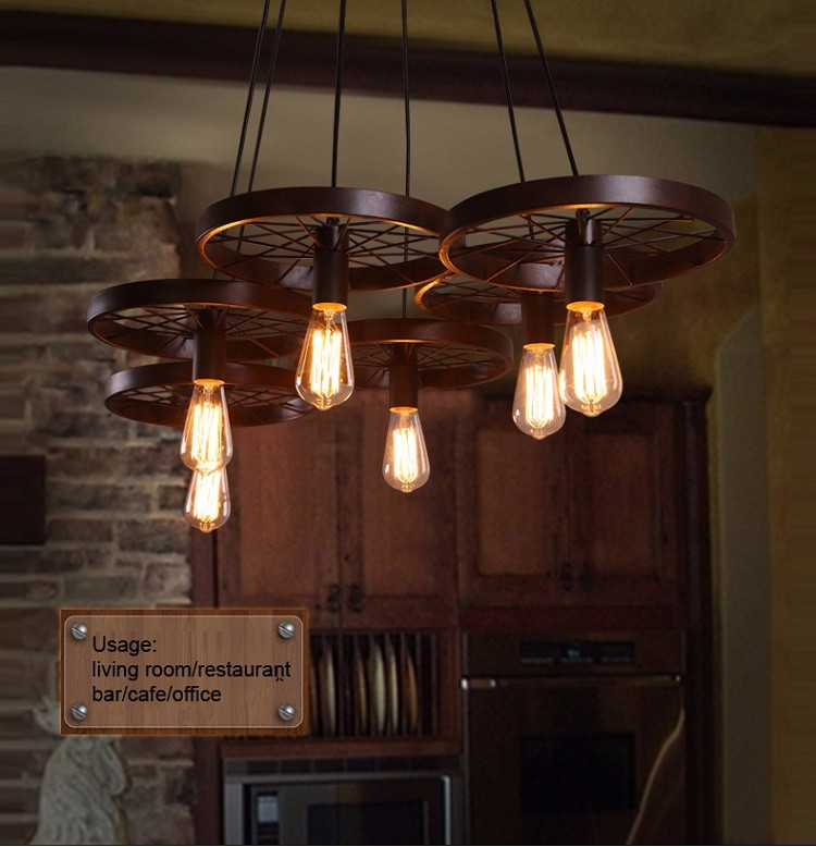 Steampunk Retro Lighting Castle Pendant Lamp Clothing Dinning Room Meval Chandelier