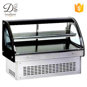 OEM / ODM 3 layers cake chiller custom-made top counter bread display case refrigerator showcase