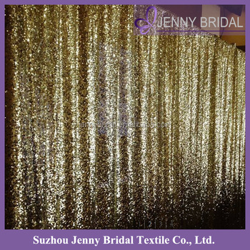 BCK087 Custom Made Gold Sequin Curtain Wedding Backdrop