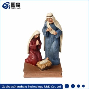 Custom resin nativity the holy family set figurine