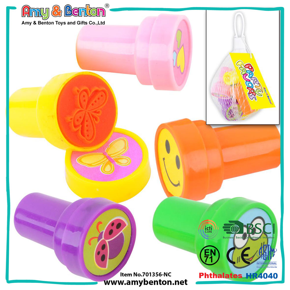 Promotion product fun and cute cartoon mini plastic rolling stamper