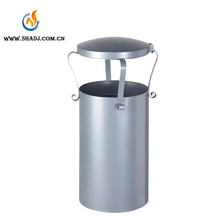 Garden Park Custom Made Cast Iron Powder Coating Metal Dustbin and Round Trash Can