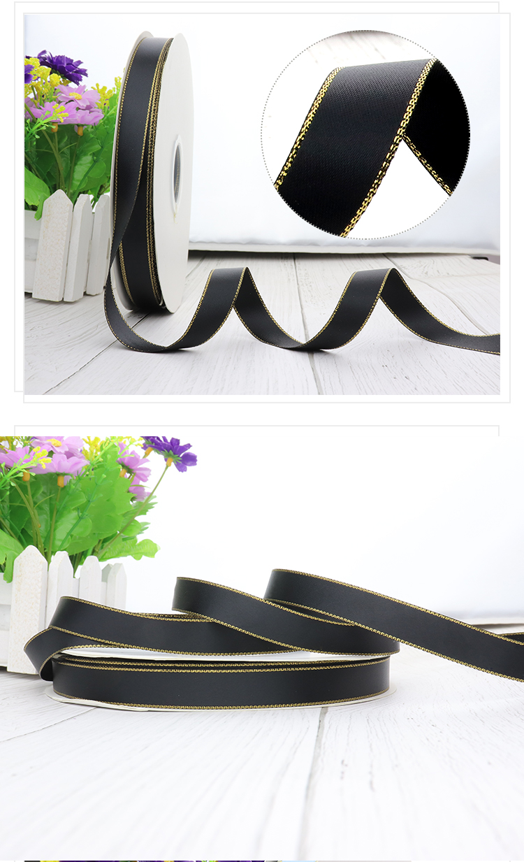 High Quality Ribbon Satin Double Face Gift Package Satin Ribbon Wholesale