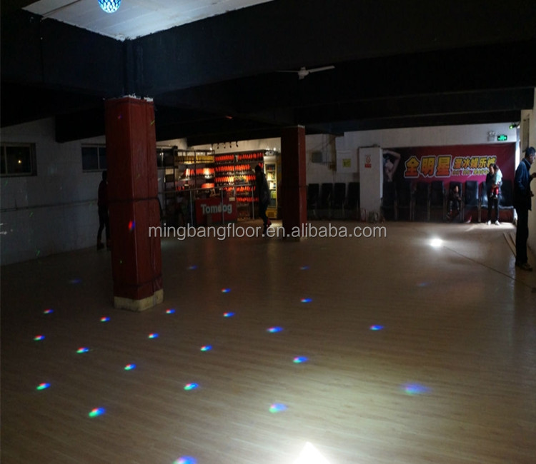 PVC maple, oak, teak pattern floor, PVC roller skating <strong>flooring</strong> roll
