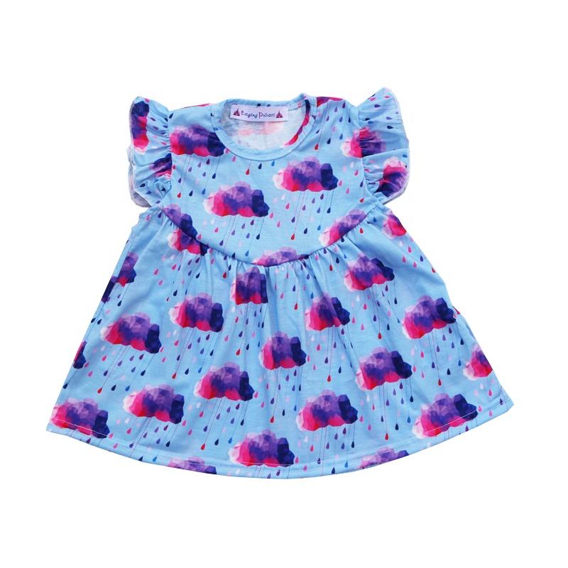 a017c2e0a الطفل مجموعة ملابس الأطفال ارتداء الاطفال الفتيات السراويل الجليد مع تونك  قمم الغيوم الطباعة الجملة الصيف