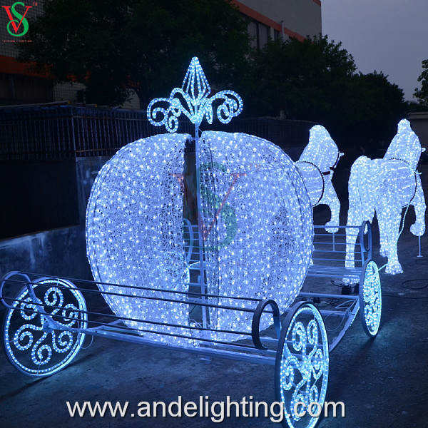 Outdoor Christmas Decorations Horse Carriage : Christmas lights d acrylic animated pumpkin horse