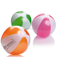 2 color 6 panels beach ball with logo PVC inflatable ball phthalate free low MOQ