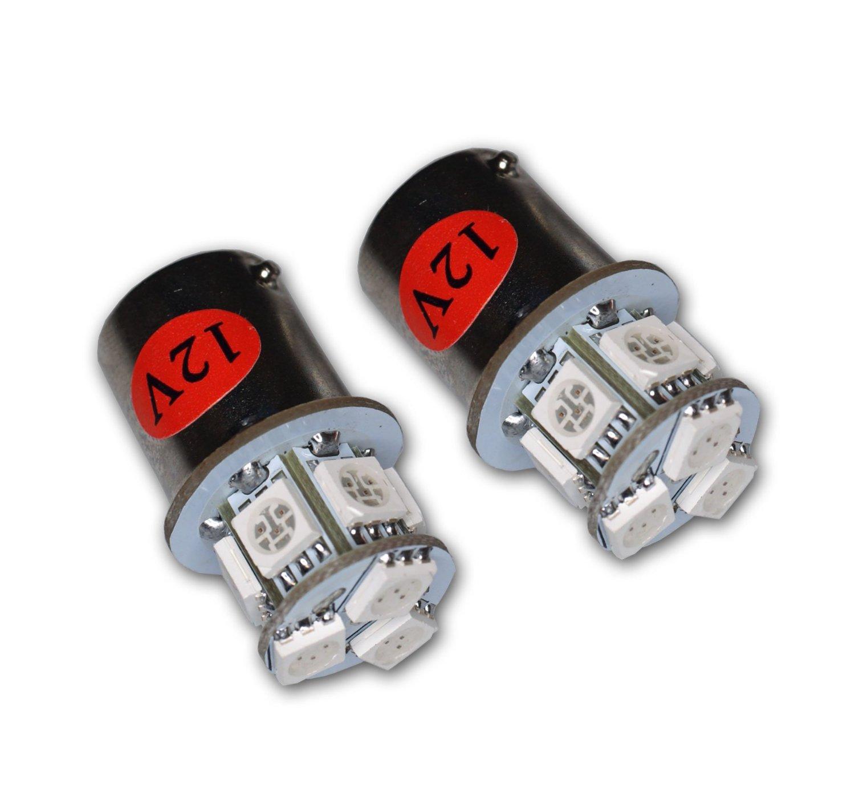 TuningPros LEDPL-1157-YS9 Parking Light LED Light Bulbs 1157 9 SMD LED Yellow 2-pc Set