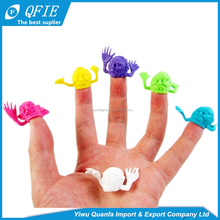 Colorful small soft TPR cheap hand puppet toy for kids