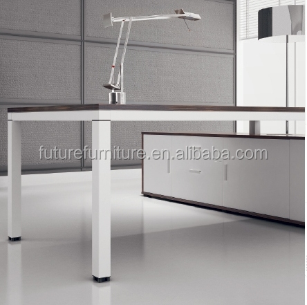 2016 Germany Market White Color Aluminium Leg Cheap Office Desk (Hot)