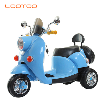 New products three wheel electric battery remote model toy scooter riders kids electric motor cycle for boys children