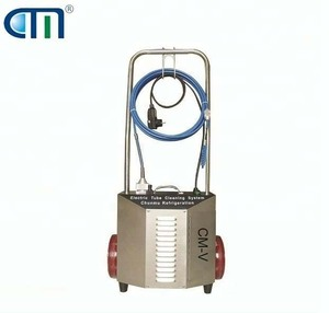 CM-V oil less tube cleaning unit refrigerant pipe trolley type pipe cleaner with shaft