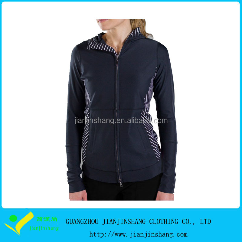 Lightweight Polyester Microfiber Full Zip Hoodies With Custom Pattern