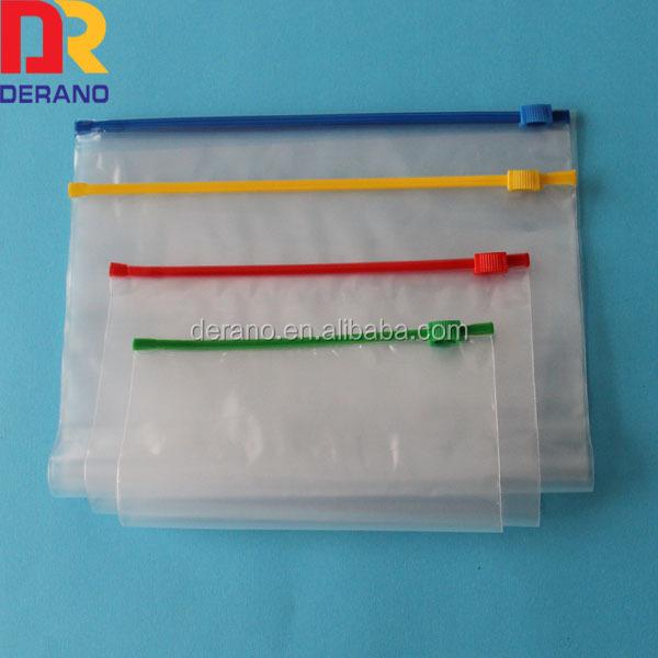 Recycled Plastic Custom Mini Ldpe Ziplock Bag With Slider Zipper