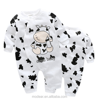 25d2d178067b Children Clothes New Cow Printed Baby Cotton Onesie Newborn Baby One ...