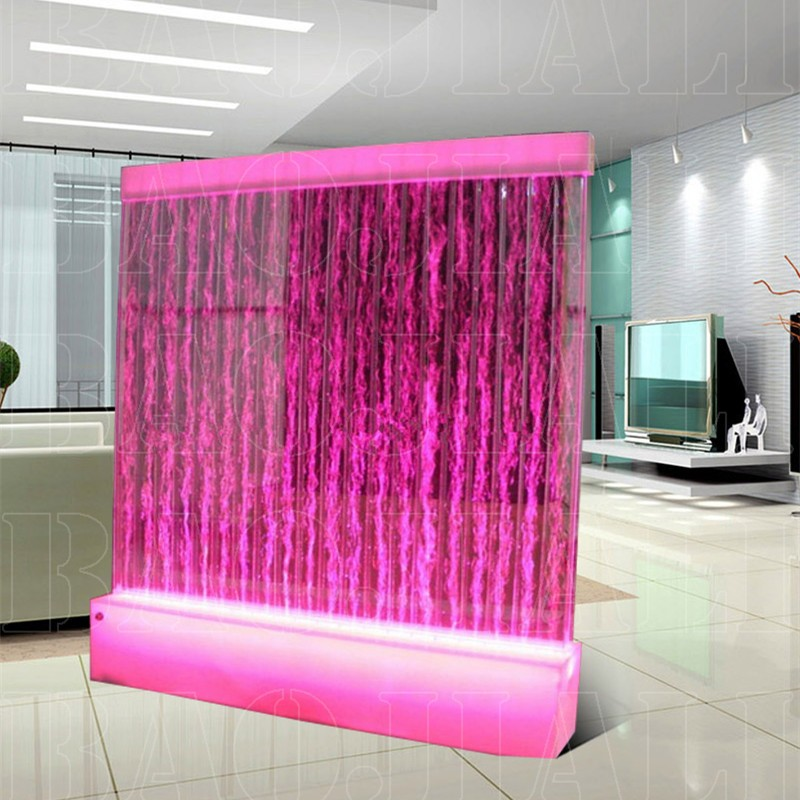 Led Lighted Floating Ornamental Bubble Water Fountain Decorative Panel For Bar Counter