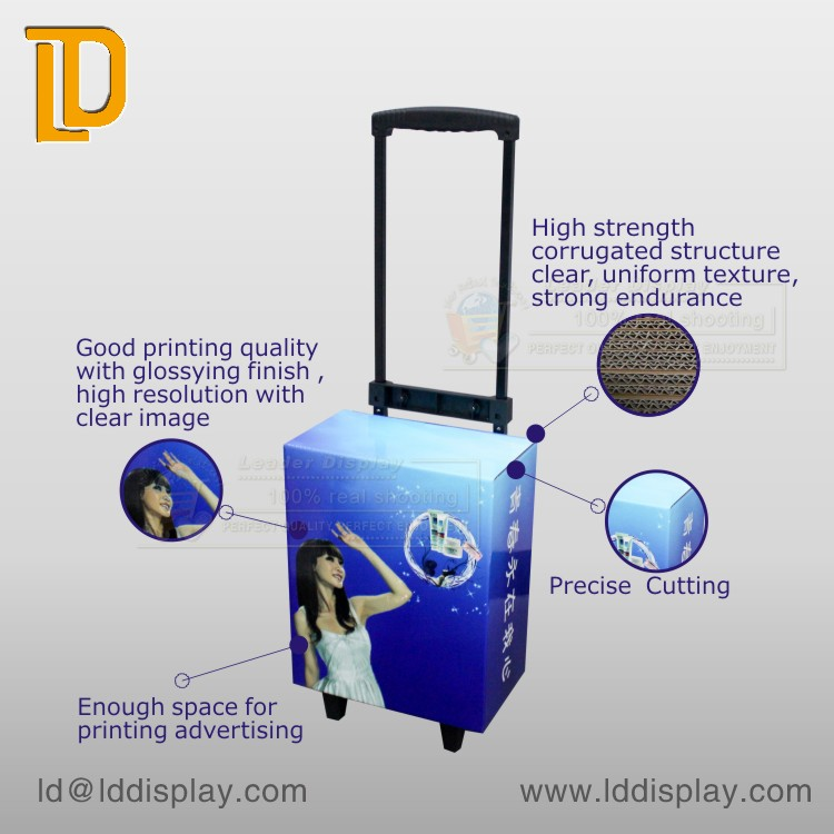 Good Quality Economical Save Space Cardboard Trolley Luggage Case for Gift Trade Show