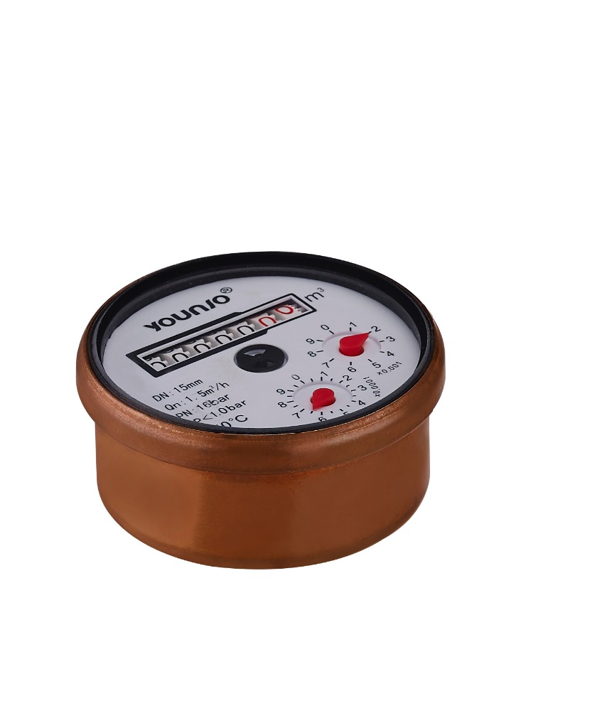 Younio Brass Cover Water Meter Counter for Multi Jet