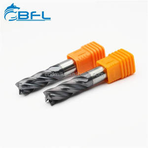 BFL Anti-broken Solid Carbide 4 Flute End Mills For Mould Steel