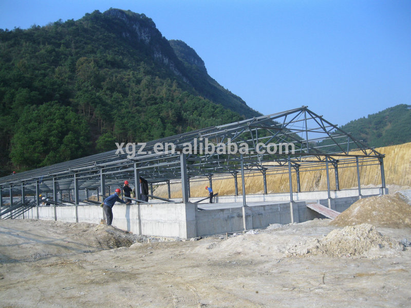 prefab automatic controlled pig farm housing