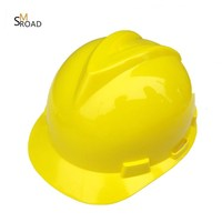 Head safety protection intensification HDPE or ABS materials V type industrial safety helmet