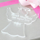 Unique Gentle Angel Shape Glass Ornament For Christmas Hanging