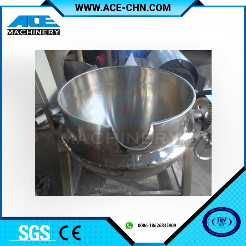 Tilting Style Food Grade Commercial Soup Cooking Boiler With Double Jacket