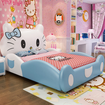 Verrassend Hello Kitty Bed Solid Wood Frame Children Bed Wooden Girl Bed LC-34