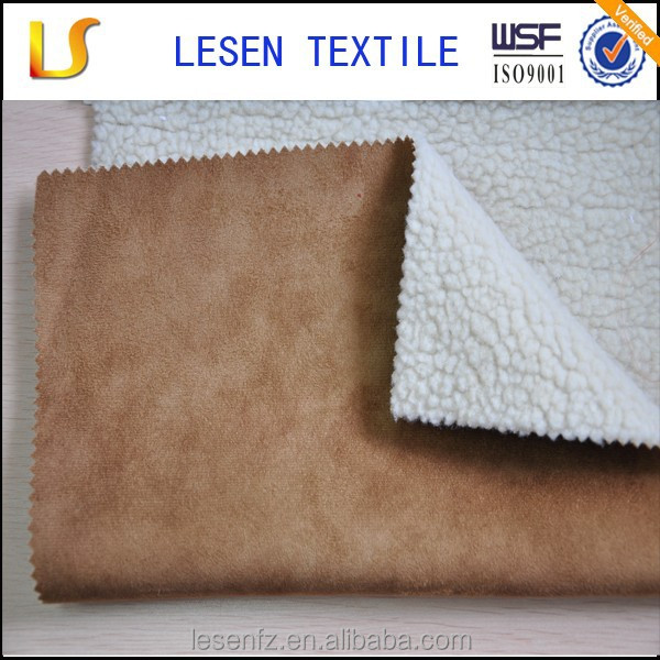 Lesen Textile micro suede fabric vinyl wrap and heavy jacket fabric