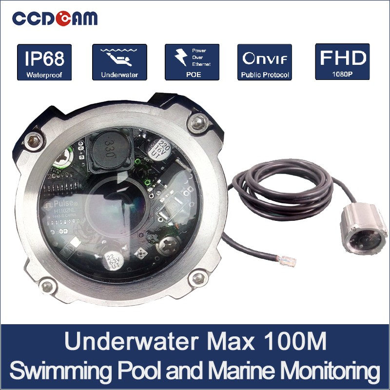 Marine P2P underwater network camera CCTV security system