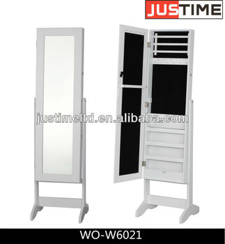 Makeup Mirror With Jewelry Cabinet, Full Length Mirror Cabinet