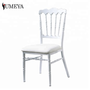 Hot sale popular stacking event napoleon chair white wedding chiavari chair