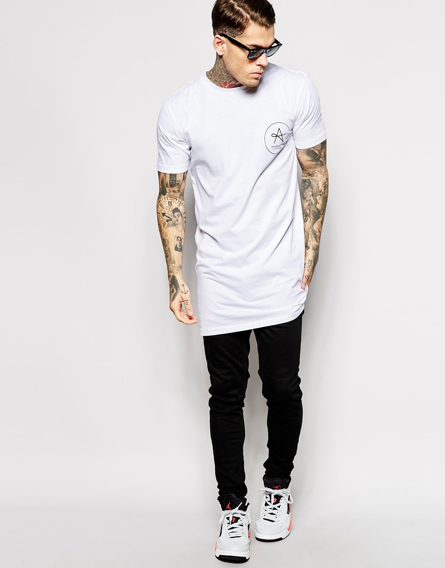 Custom Logo Extra Long Cotton T Shirt Buy Cotton T Shirt
