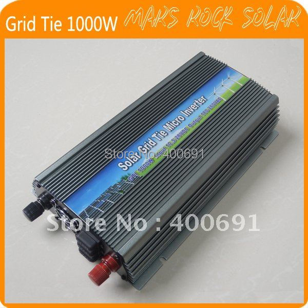 Grid Tie 1000W Pure Sine Wave Inverter for  Input PV Power 1200W ---Free shipping
