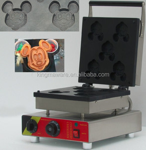 commerical mickey mouse shape waffle makers _animal shaped waffle maker