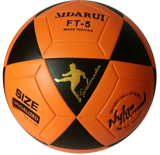 <strong>Orange</strong> and Black S-3801 Indoor Series Soccer Ball