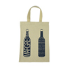Cotton canvas 2 bottle tote wine bag