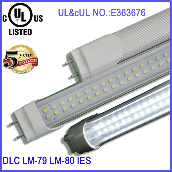 18w frosted/milkly cover light led tube ul listed t8 t10 t12 fluorescent lamp replacement directly