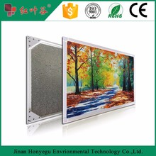 Wall mounted Infrared IR heating panel with painting