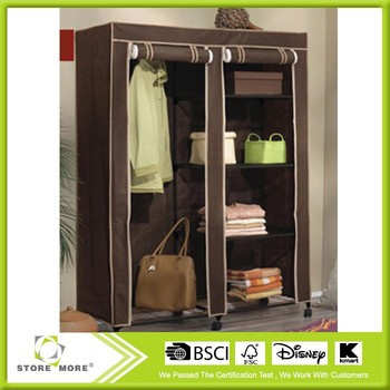 Large Movable Easi Wardrobe Storage Closet Brown